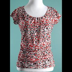 KENNETH COLE REACTION Red Black Mesh Fabric Top S KENNETH COLE REACTION Red Black Mesh Fabric Top S Kenneth Cole Reaction Tops