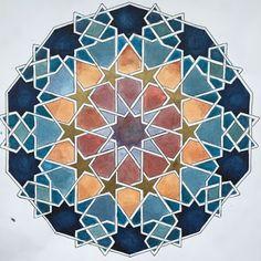 Motifs Islamiques, Islamic Motifs, Islamic Tiles, Islamic Art Pattern, Arabic Pattern, Pattern Art, Pattern Design, Geometric Patterns, Geometric Designs