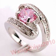 'Perfectly Pink Ruby 14KTWGF size 8' is going up for auction at 12pm Thu, Sep 20 with a starting bid of $5.