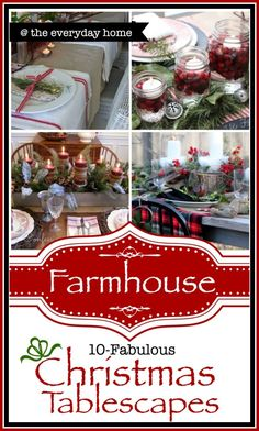 Are you drawn to tablescapes which features burlap and berries and Mason Jars and cedar filled galvanized containers? Enjoy this collection! Merry Little Christmas, Country Christmas, Christmas Home, Christmas Holidays, Christmas Crafts, Christmas Ideas, Christmas Stuff, White Christmas, Happy Holidays
