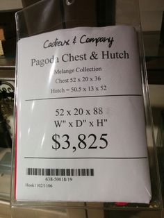 Pagoda chest and hutch