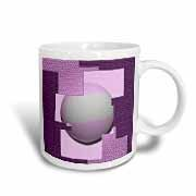 A pink and mauve design with a 3 Dimensional Sphere in the center - Jos Fauxtographee- Sphere Layers picture on a Mug. Mauve, Layers, 3d, Tableware, Pink, Stuff To Buy, Design, Layering