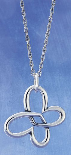 Linked Heart Butterfly shown on a Rope Chain (sold separately) #JamesAvery