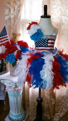 American flag 4th of July Tutu dress. by TheMuseCreations on Etsy