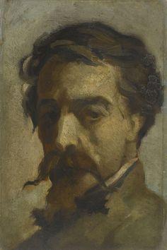 Jean-Baptiste Carpeaux (1827-1875), Autoportrait, Huile sur carton, 29,5 x 14,5 cm, Paris, musée d'Orsay, RF 1938 53, © Musée d'Orsay, dist. RMN-Grand Palais / Patrice Schmidt