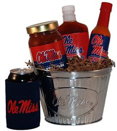 University of Mississippi Tailgate Grilling Gift Basket - Small