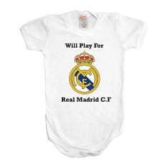 f29ed0fb5 Will Play For Real Madrid Football Soccer Baby Boy Girl One Piece Bodysuit  Romper Clothing Outfit Cool Funny