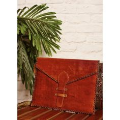 Gleamberry | Brown Leather Handcrafted Envelope