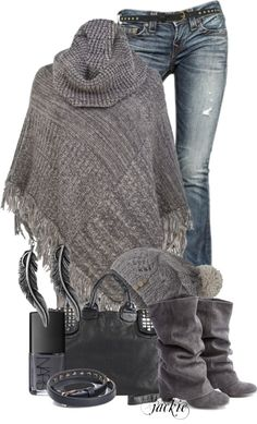 """The Poncho 3"" by jackie22 on Polyvore"