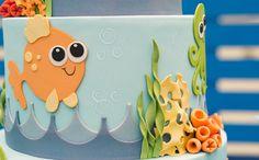 BOLO ANIVERSARIO Festa infantil com tema 'Fundo do Mar' no 'Fazendo a Festa' - Fazendo a Festa - GNT