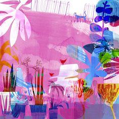 the art room plant: Jill Calder II Watercolor Water, Color Studies, Photo Illustration, Illustrators, Art Projects, Street Art, Abstract Art, Art Prints, Drawings