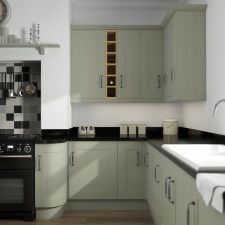 Colour and curve Shaker Kitchen Inspiration, Free Design, The Help, Kitchen Cabinets, Kitchens, Home Decor, Colour, Elegant, Green