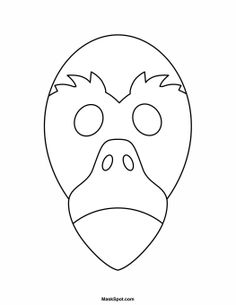 Printable Flamingo Mask to Color