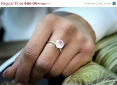 This ring features a beautiful rose quartz gemstone set in a delicate prong setting ring.    ☛ Ring size - all sizes available,choose your size