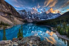 The landmark's neighbour: This lake is close to the more famous Lake Louise in Canada's  Banff National Park, and much less crowded