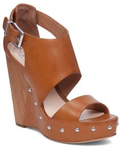 Vince Camuto Matta Leather Wedge Sandals
