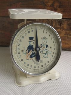 Vintage 1940s 1950s Baby Nursery Scale