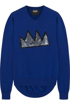Markus Lupfer - Crown sequined merino wool sweater