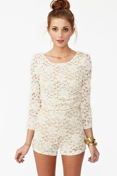 Lace romper? Yes please. Doubt I'd ever be able to pull this off though.