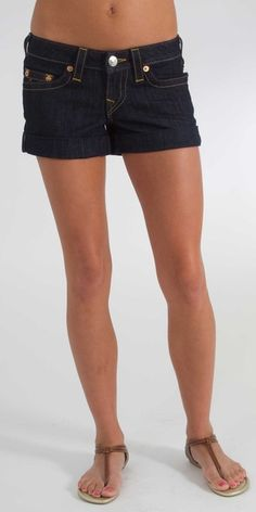 True Religion Allie Cuff Short in Body Rinse- $150.00