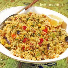 You searched for cuscus - Divina Cocina Veggie Recipes, Vegetarian Recipes, Healthy Recipes, Healthy Foods, Couscous Quinoa, Easy Cooking, Cooking Recipes, Happy Foods, Vegetarian