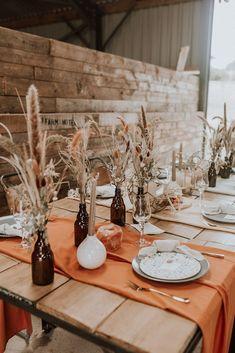 Burnt Orange | A Stunning Boho Luxe Wedding Styled Shoot With A Cool Rustic Vibe #bohobride #bohowedding #festivalwedding