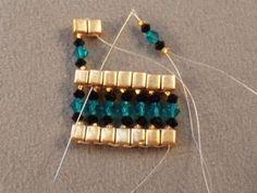 Queen of the Nile Swarovski Crystal Bracelet Free Beading Pattern ~ Seed Bead Tutorials