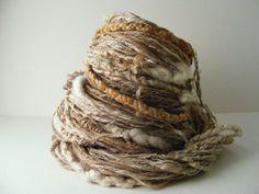 Textural  Lichen Yarn Corespun Coil Hand Dyed by greybirdstudio