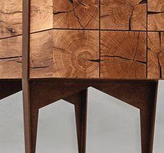 Close-up of Wood in Sekretär Desk by Simon Schacht