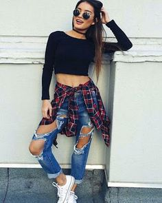 Urban style outfits, hipster outfits for women, edgy school outfits, cute outfits with Hipster Outfits For Women, Urban Style Outfits, Casual Outfits, Cute Outfits, Fashion Outfits, Clothes For Women, Gray Outfits, Plaid Outfits, Casual Clothes