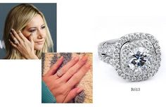 Get Ashley Tisdale's engagement ring look with R613 from #MichaelM