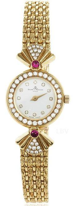 Baume & Mercier High Jewelry Diamond 18K Yellow Gold Womens Wristwatch 20 MM | LBV ♥✤