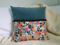 16x16 OOAK Rifle Paper Co Pillow Cover and Insert Blue