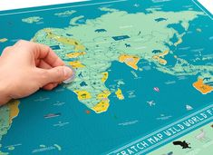 Scratch Map® Wild World Maps For Kids, Scratch Off, Us Map, Child Love, Travel Gifts, Trip Planning, Kids Learning, Gifts For Kids, Fun Facts