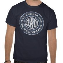 Number 1 Dad T-Shirt (Distressed)