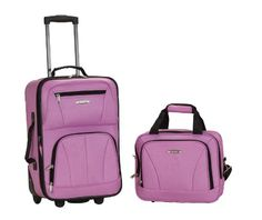 Rockland Luggage 2 Piece Set, Pink, O…