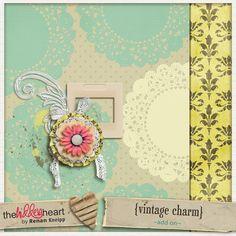 Vintage Charm tiny kit freebie from The Hidden Heart