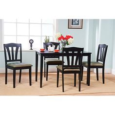 Formalbeauteous Tms nook 3 piece dining set in espresso