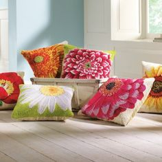 Our Floral Blooms Pillow Collection are refined, yet casual, and crafted with vivid color and timeless floral designs. These pillows are a beautiful way to enjoy the majesty of spring all year long.