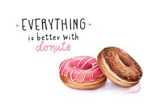 Everything is better with donuts ~ Illustrations on Creative Market