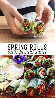 Vegan Spring Rolls, Summer Rolls, Fresh Spring Rolls, Rice Paper Spring Rolls, Rice Paper Wraps, Thai Spring Rolls, Vegetarian Spring Rolls, Rice Wraps, Shrimp Spring Rolls