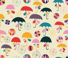 Sara Brezzi - Directory Moyo, I'm happy when it rain, spoonflower collection.