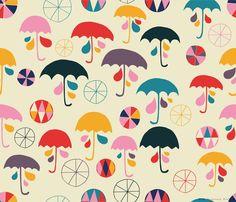 Sara Brezzi - Directory Moyo, I'm happy when it rain, spoonflower collection.