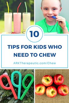 ARK Therapeutic: Tips & Strategies for Kids & Adults Who Need to Chew. Pinned by SOS Inc. Resources. Follow all our boards at pinterest.com/sostherapy/ for therapy resources.