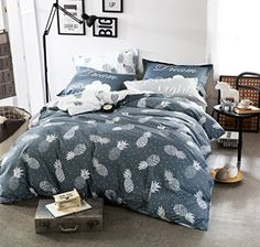 100+ Pineapple Bedding Sets! We have tons of pineapple bedding, comforters, duvet covers, quilts, sheets, throw pillows, shams, and more. Find all sorts of pineapple bedding ideas with sizes like twin, twin xl, double, full, queen, and king. #ModernBedSheets