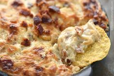 Baked Bacon Cheese Onion Dip Recipe | http://shewearsmanyhats.com/baked-bacon-cheese-onion-dip-recipe/