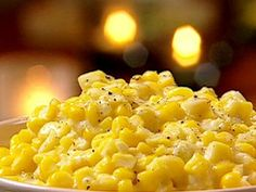 Southern Creamed Corn recipe from Patrick and Gina Neely via Food Network This is the best creamed corn recipe! Veggie Dishes, Food Dishes, Side Dish Recipes, Vegetable Recipes, Dishes Recipes, Cream Cheese Corn, Food Network Recipes, Cooking Recipes, Cooking Tips