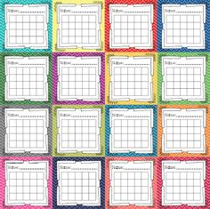 FREEBIE chevron style incentive charts--ideal for whole class, small group, or…