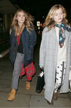 cara delevingne and georgia may jagger off duty street style