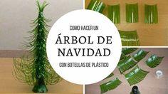 Como un hacer árbol de navidad con botellas de plástico
